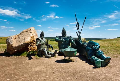 Три богатыря. Кудыкина гора - сафари парк в Липецкой области