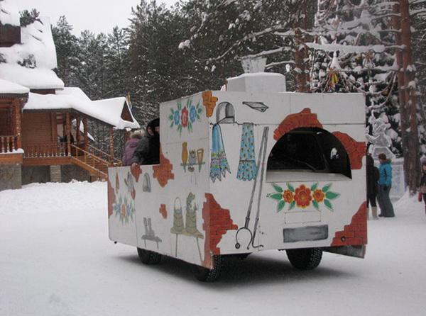 Резиденция Деда Мороза в Великом Устюге. Катание на печи Емели