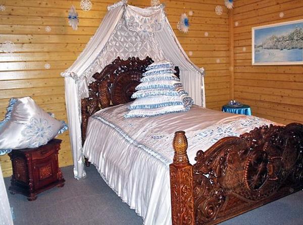 Спальня Деда Мороза в Великом Устюге