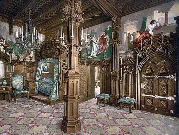 Замок Нойшванштайн. Внутреннее убранство