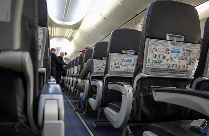 Салон самолета лоукостера