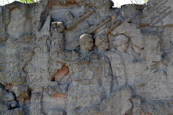 Стены-руины на Мамаевом кургане в Волгограде