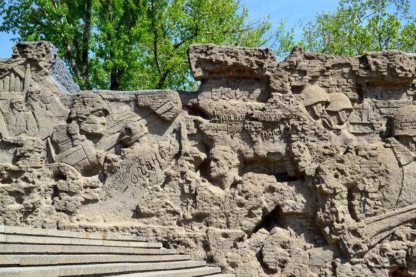 Мамаев курган в Волгограде. Стены-руины