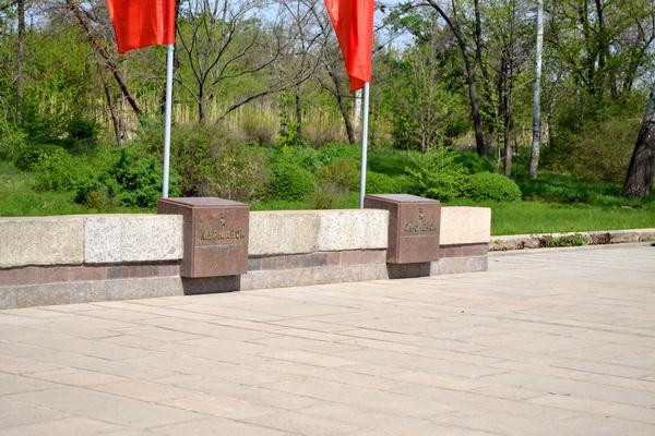 Мамаев курган в Волгограде. Урны с землей городов-героев