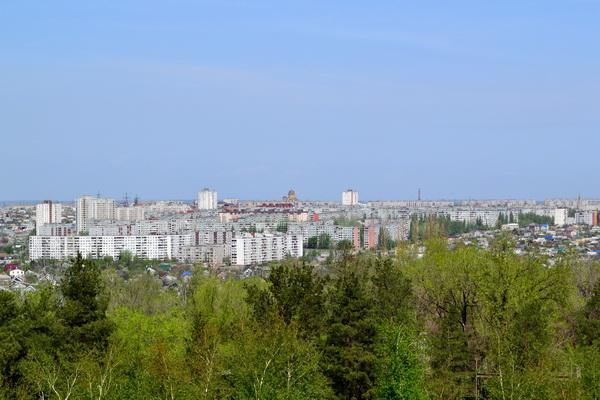 Вид на Волгоград. Мамаев курган