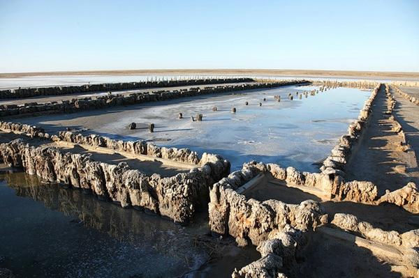 Остатки купален Екатерины Великой на озере Эльтон