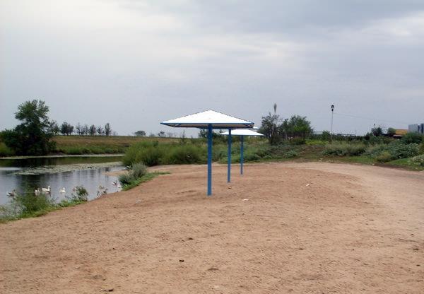 Пляж на речке Бузулук. Станица Преображенская