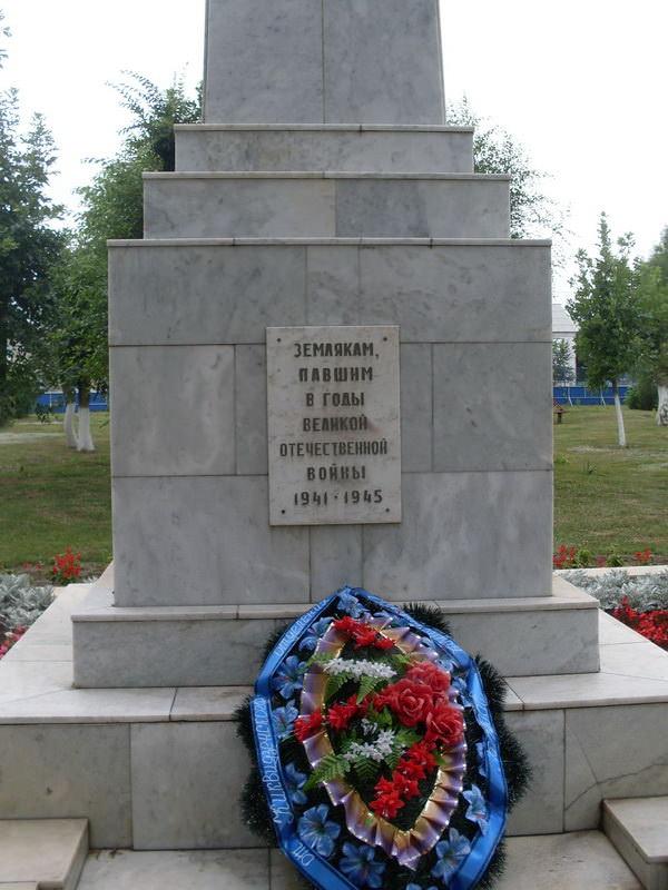 Памятник героям ВОВ. Станица Преображенская