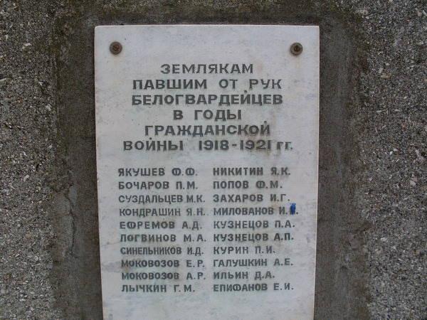 Памятник в парке. Станица Преображенская