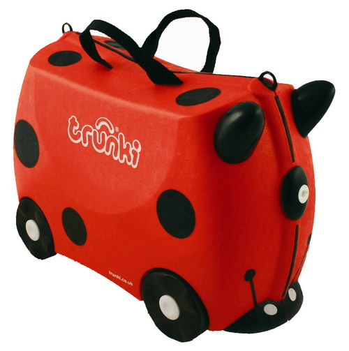 Главный приз конкурса - детский дорожный чемодан Trunki Harley «Божья коровка»