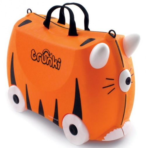 детский чемодан на колесах Trunki Tipu Тигренок