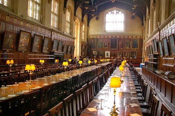 Christ Church Оксфорд Большой зал Хогвартса