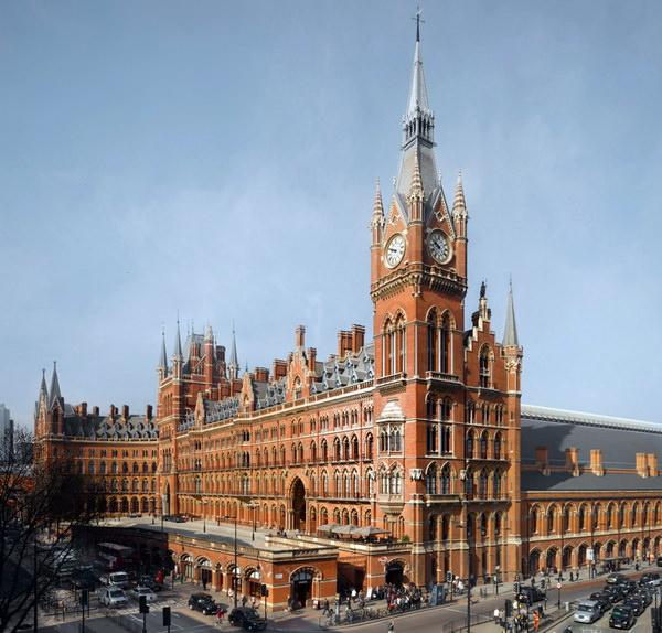 St.Pancras Railway Station вокзал Сент-Панкрас Лондон