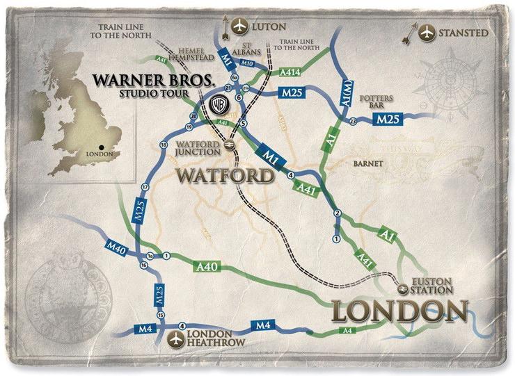 Как добраться в музей Гарри Поттера на киностудии Warner Bros. из Лондона