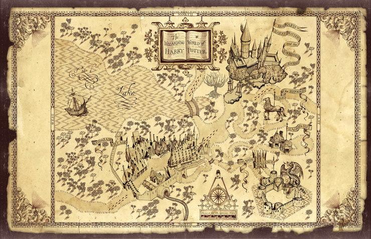 карта парка развлечений волшебный мир гарри поттера