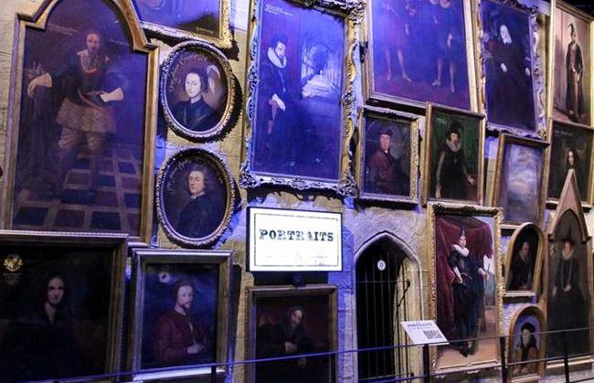 Оживающие портреты в музее Гарри Поттера на киностудии Warner Bros.