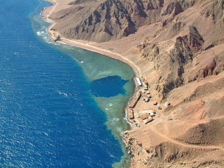 Голубая дыра Египет