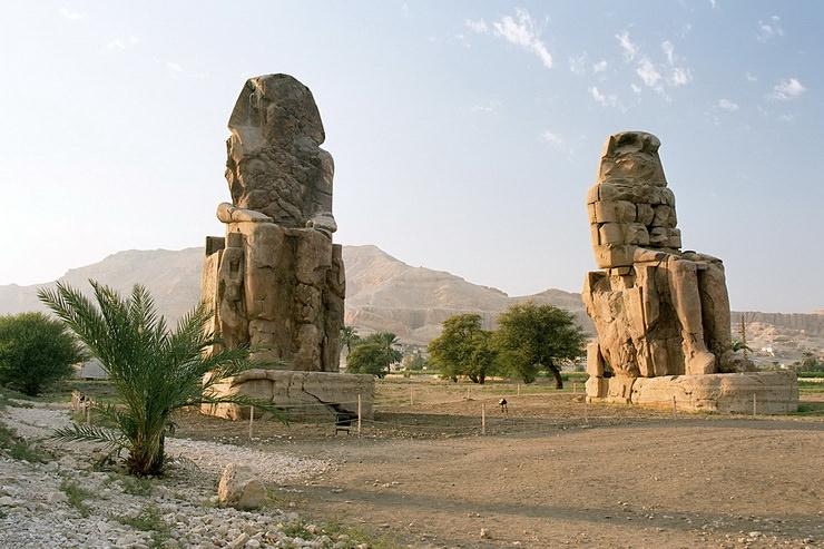 """Колоссы Мемнона. Луксор, """"город мертвых"""", Египет"""