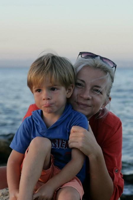 Людмила Требунских с сыном