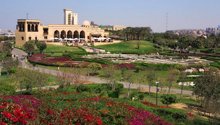 Парк Аль-Азхар в Каире. Семейные развлечения в Египте.