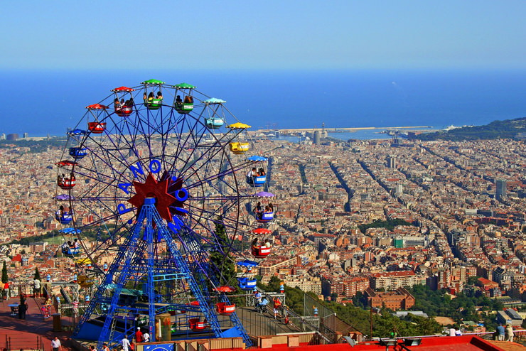Куда поехать с детьми в августе? Тибидабо, Барселона