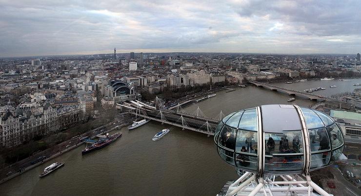 Колесо обозрения Лондонский глаз. Отдых с детьми в ноябре