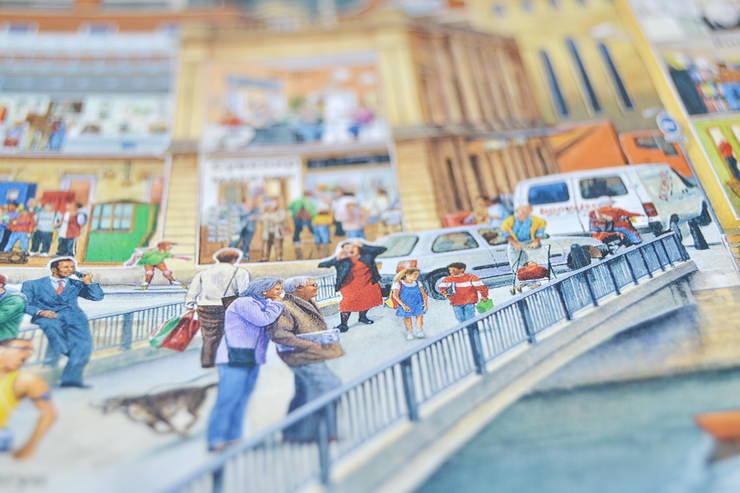 """Иллюстрации Стива Нуна из книги """"Улица сквозь время"""""""