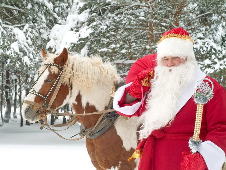 Дед Мороз в Великом Устюге на Новый год