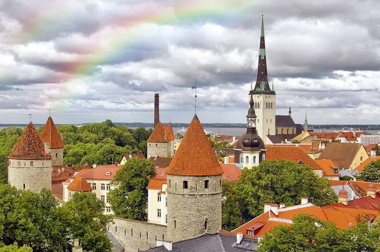 Таллин Эстония с детьми на весенних каникулах