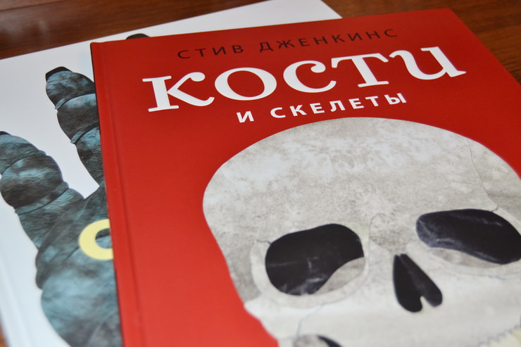 "Книга ""Кости и скелеты"" Стива Дженкинса"