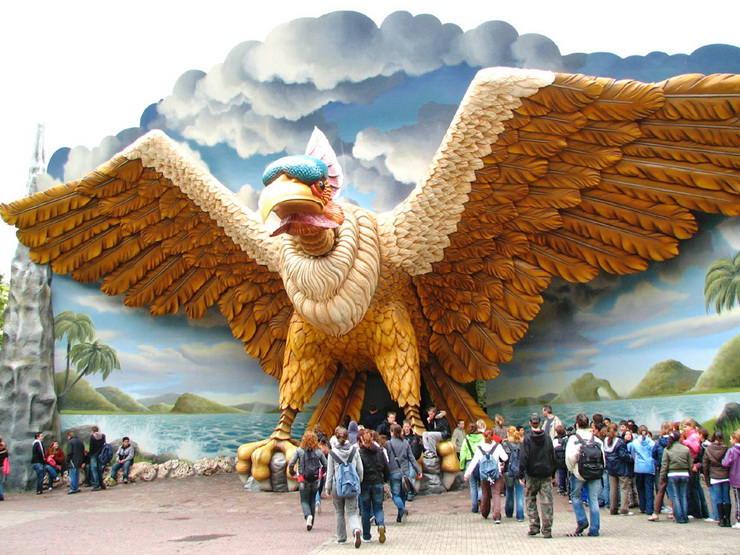 Американские горки «Vogel Rok» в парке Эфтелинг