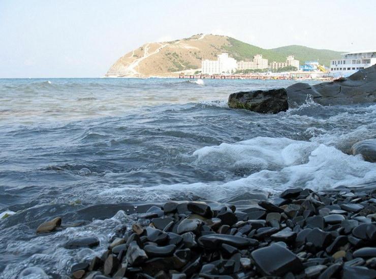 Анапа. Галечный пляж