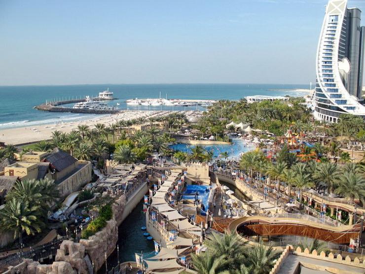 Jumeirah Beach Hotel. Аквапарк