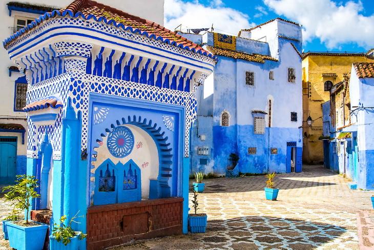 Синий город Марокко