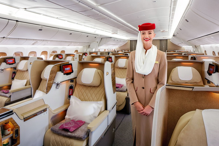 Бизнес класс в самолете Emirates