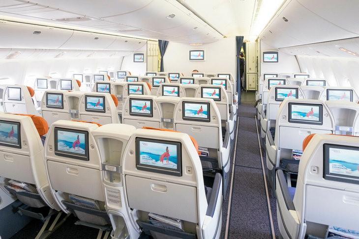 Комфорт Класс в салоне авиакомпании Аэрофлот